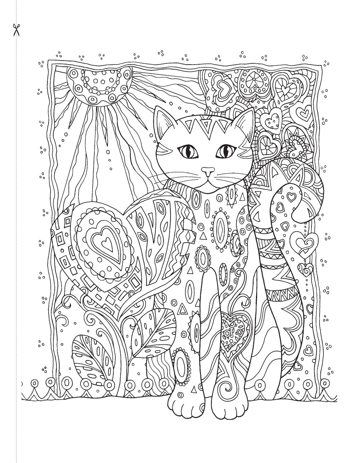 картинки для раскрашивания кошки релакс речь идет