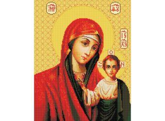 Мозаика на подрамнике. Икона Божией матери Казанская (069-ST-S)