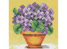 Мозаичные картины. Фиалки в горшочке (039-ST-PS)