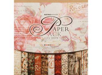 """Наборы для скрапбукинга. Набор бумаги """"Королевские розы"""" 30.5см*30.5см (024-SB)"""