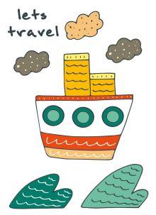- Блокнот для записей Let's travel (A6) обложка книги