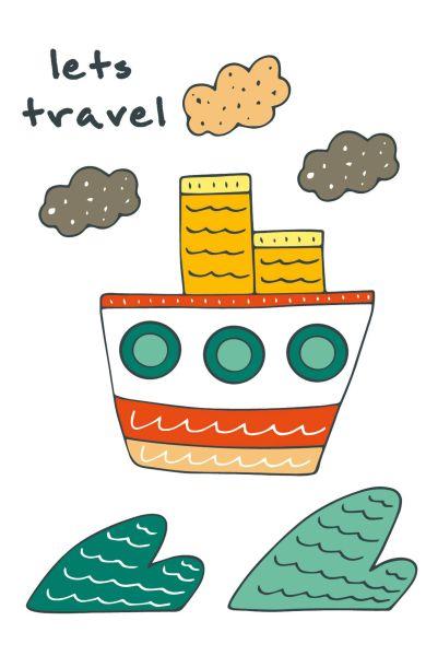 """Блокнот для записей """"Let's travel"""" (A5)"""