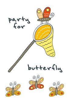 - Блокнот для записей Party for butterfly (А5) обложка книги