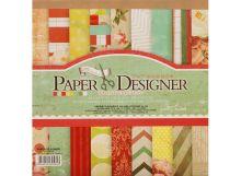 - 010-SB Набор бумаги Яркие цветы 17.5см*17.5см обложка книги