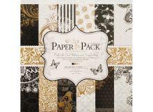 - 026-SB Набор бумаги Золотое барокко 30.5см*30.5см обложка книги