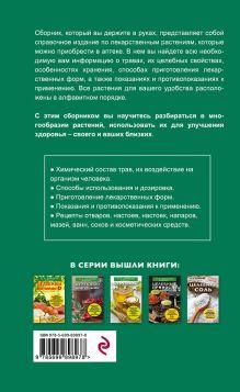 Обложка сзади Травы из аптеки. Описание и применение 170 лекарственных растений для здоровья всей семьи