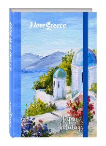 - Блокнот. Романтичный Санторини (на резинке) обложка книги
