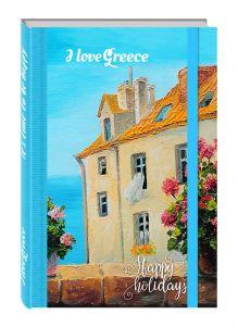 - Блокнот. Остров Крит (на резинке) обложка книги
