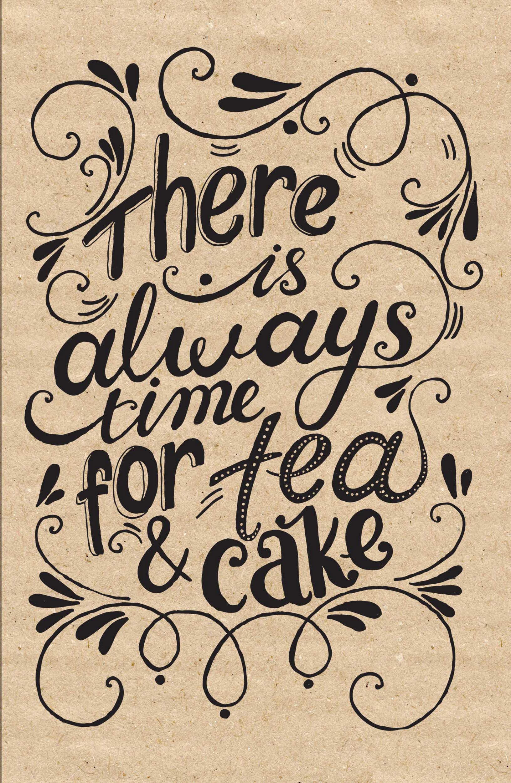 Блокнот. Время для чая и пирога (надпись)