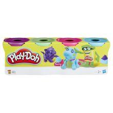 PLAY-DOH - Play-Doh Набор из 4 баночек (в ассорт.) (B5517) обложка книги
