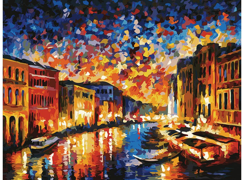 Живопись на картоне 30*40 Гранд-Канал Венеция (3024-CS)