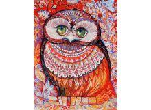 - Живопись на картоне 30*40 Медовая сова (3074-CS) обложка книги