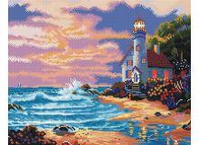 - Мозаика на подрамнике Дом с маяком (261-ST-S) обложка книги