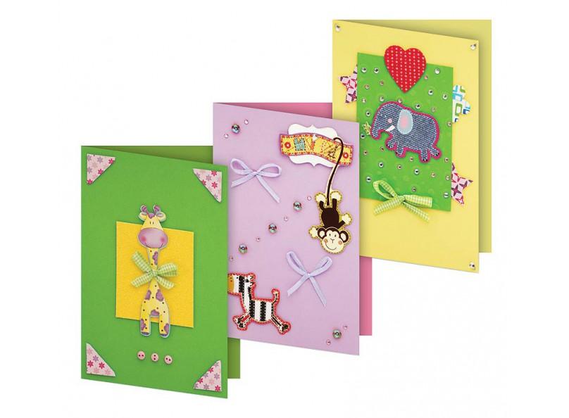 """Наборы для скрапбукинга. Набор для создания 3-х открыток """"Веселая мозаика"""" (103-SB)"""