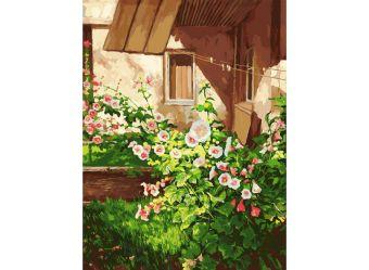 Живопись на холсте 30*40 см. Куст шток розы (089-AS)