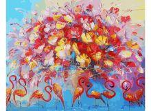 - Живопись на холсте 40*50 см. Танец красного фламинго (156-АВ) обложка книги