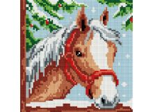 - Мозаика на подрамнике. Белогривая лошадка (326-ST-S) обложка книги