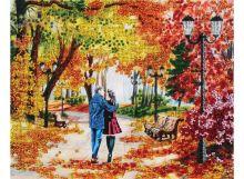 - Наборы для вышивания бисером. Осенний парк, скамейка, двое (9042-CM) обложка книги