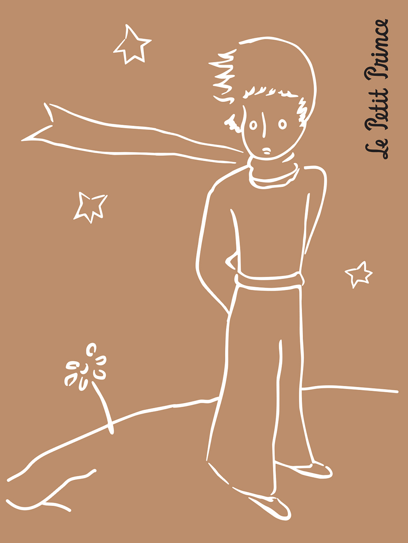 Маленький принц. Ретро-блокнот 1