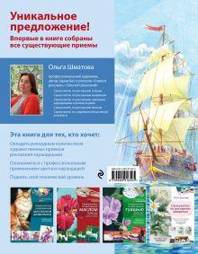 Обложка сзади Самоучитель по рисованию цветными карандашами (обновленное издание) Ольга Шматова
