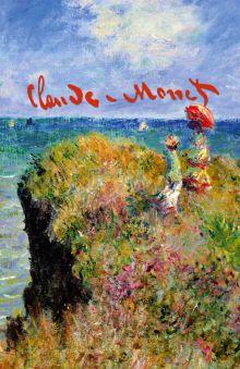 Клод Моне. Прогулка по скалам Пурвиля. Блокнот без линовки