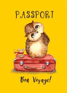 - Сова-путешественница (обложка на паспорт) обложка книги