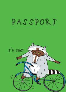 Обложка Енот на колесах (обложка на паспорт)