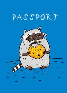 - Енот и любимая печенька (обложка на паспорт) обложка книги