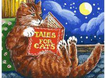 - Живопись на холсте 30*40 см. Сказки про котов (119-AS ) обложка книги
