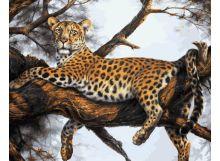 Живопись на холсте 40*50 см. Леопард на отдыхе (170-AB )