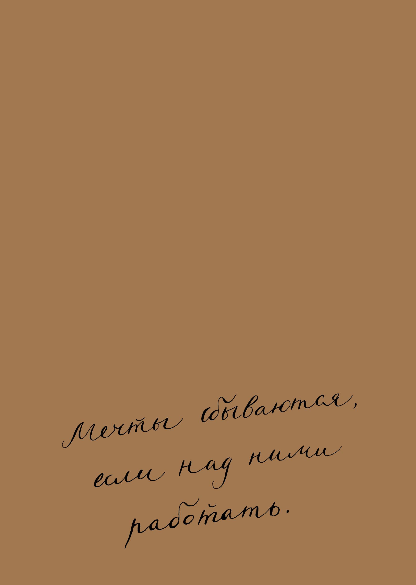 Блокнот. Мечты сбываются, если над ними работать (формат А5, мотивирующие фразы, крафт обложка) от book24.ru