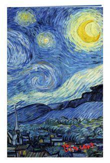 - Блокнот в пластиковой обложке. Ван Гог. Звёздная ночь (формат малый, 64 страницы) обложка книги