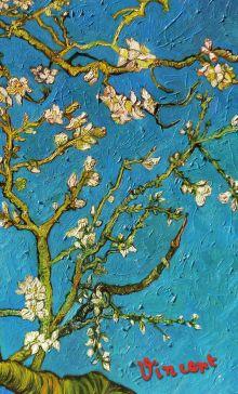 Блокнот в пластиковой обложке. Ван Гог. Цветущие ветки миндаля (формат малый, 64 страницы) (Арте)