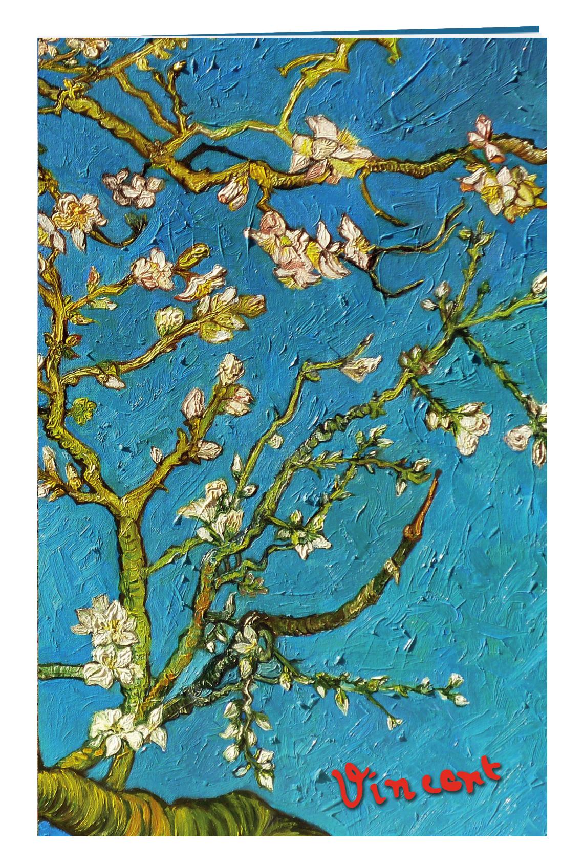 Блокнот в пластиковой обложке. Ван Гог. Цветущие ветки миндаля (формат малый, 64 страницы)