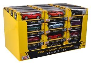 Металлическая машинка 1:64 Премиум коллекции - Американская серия (в дисплее) MOTORMAX
