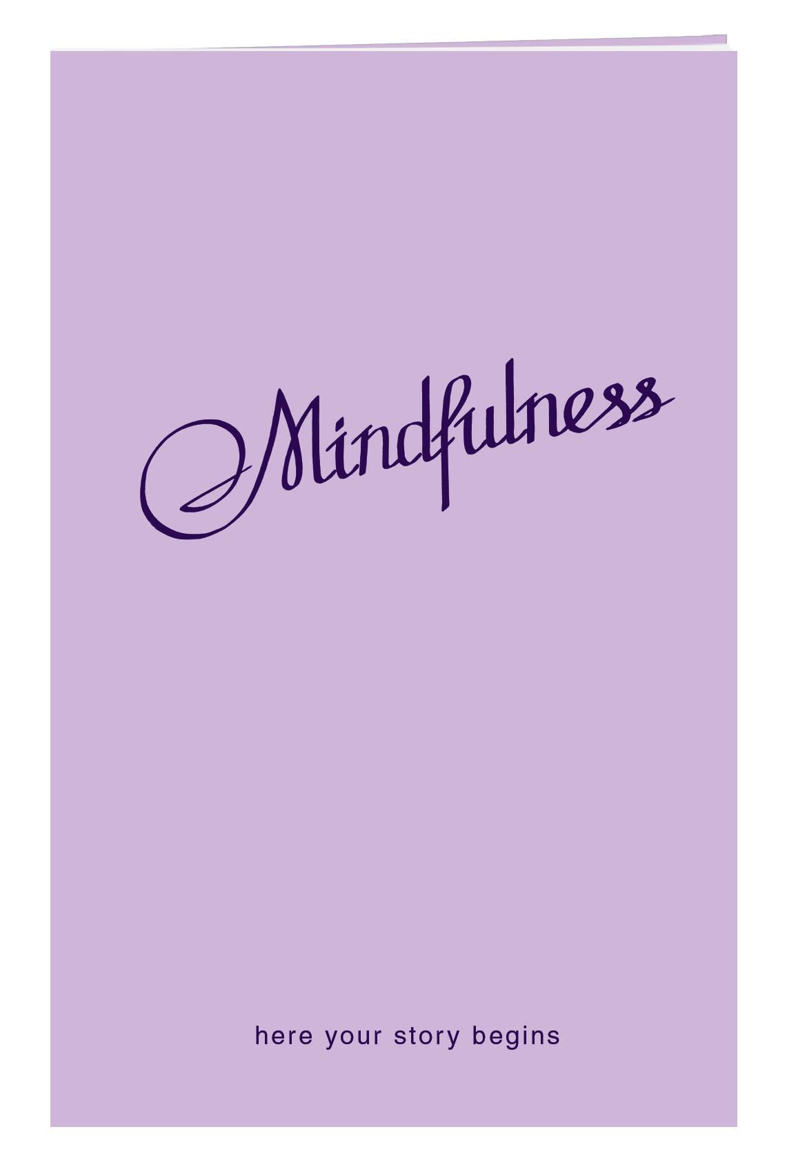 Блокнот в пластиковой обложке. Mindfulness (лаванда) (формат малый, 64 страницы)