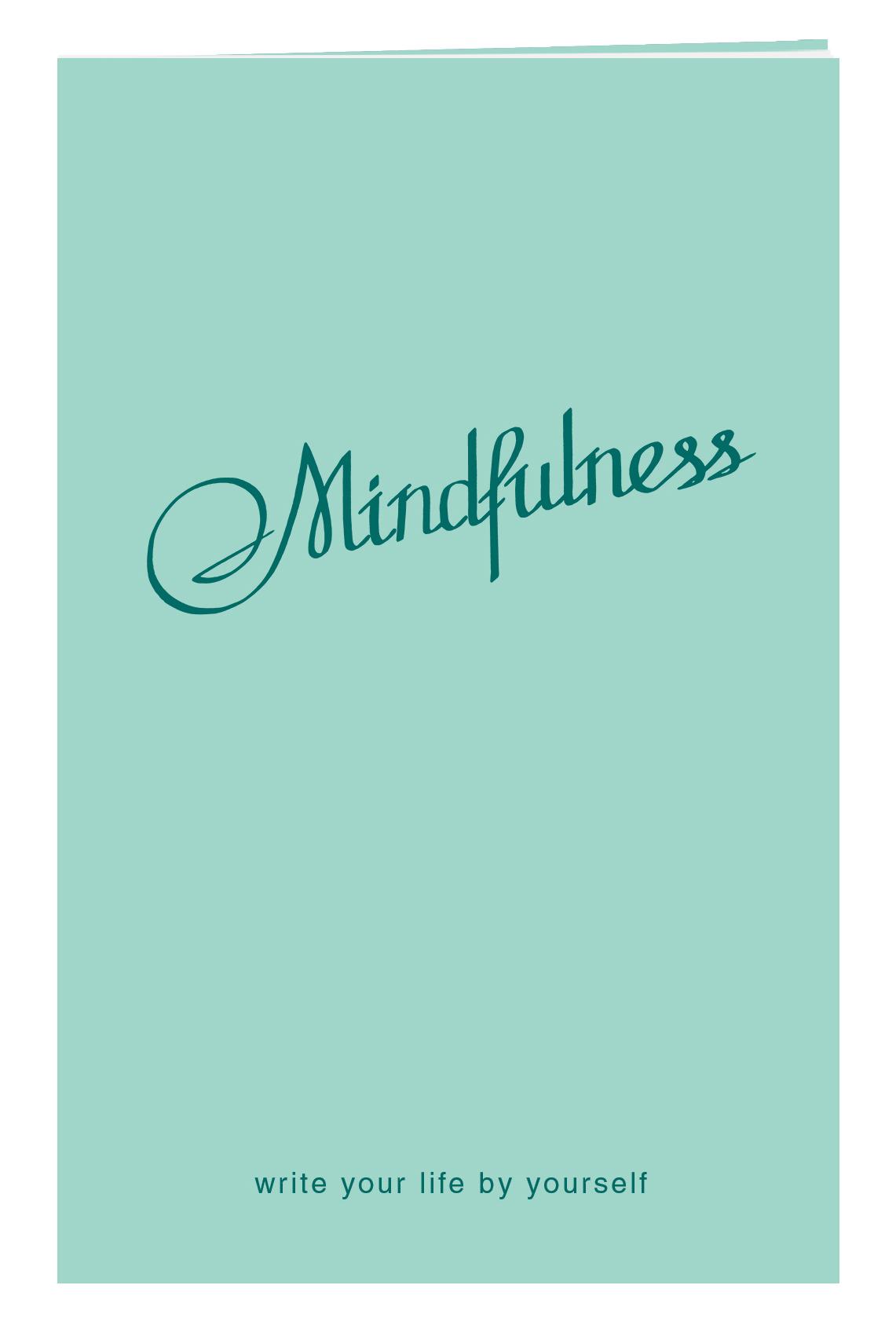 Блокнот в пластиковой обложке. Mindfulness (мята) (формат малый, 64 страницы)