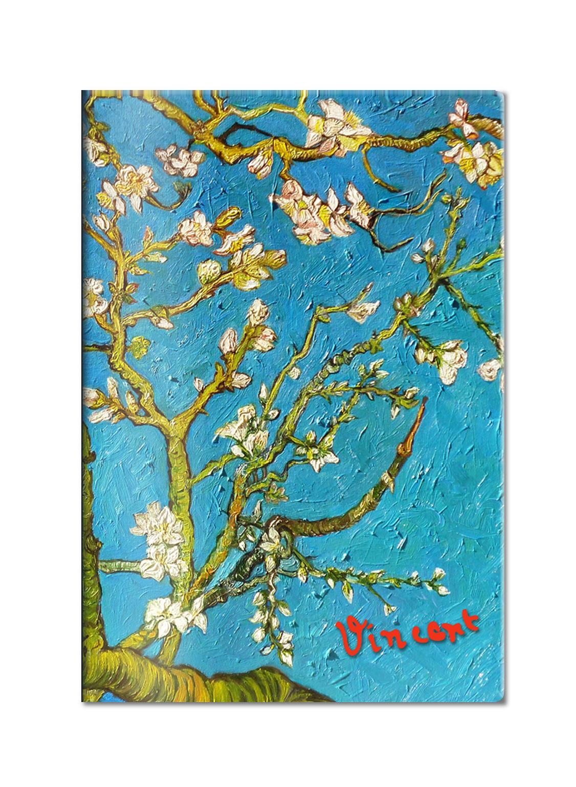 Обложка для паспорта. Ван Гог. Цветущие ветки миндаля