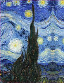 Обложка сзади Обложка пластиковая универсальная. Ван Гог. Звёздная ночь (большой формат) (Арте)