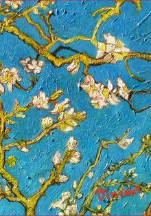 Обложка Обложка пластиковая универсальная. Ван Гог. Цветущие ветки миндаля (средний формат) (Арте)