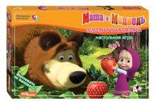 - Настольная игра Земляничная поляна (Маша и Медведь) обложка книги
