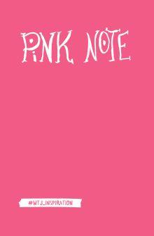 Pink Note. Романтичный блокнот с розовыми страницами