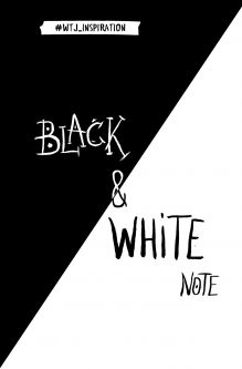 Black&White Note. Стильный блокнот с черными и белоснежными страницами
