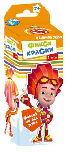- Набор пальчиковых красок Фиксики 3 цвета*20мл обложка книги