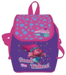 - Рюкзак Тролли детский, дошкольный, 28*28*10 см, полиэстер, 1 отделение на завязках с верхних клапаном на липучке, 1 внутренний кармашек, узкие лямки обложка книги
