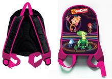 - Рюкзак Фиксики-девочки, 1 отделение, внутри карман на молнии и карман-сетка, мягкие наплечники, для дошкольников,размер 30*25*10 см обложка книги