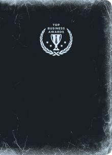 Блокнот Top Business Awards - нелинованный (черное серебро, желтые страницы)