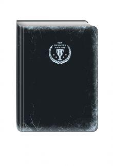 - Блокнот Top Business Awards - нелинованный (черное серебро, желтые страницы) обложка книги