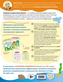 Обложка сзади 2+ Сенсорное развитие для детей от 2 до 3 лет (+ многоразовые карточки) Янушко Е.А.