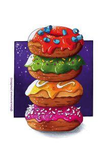 Вкусный блокнот: Пончики